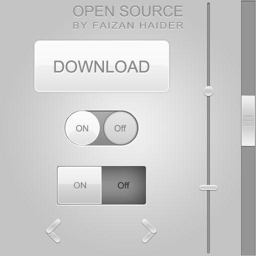 Free Psd Grey Glossy Photoshop Web Buttons