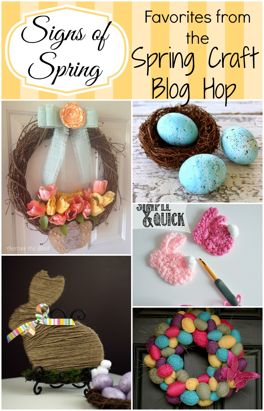 Signs of Spring: Highlights from the Spring Craft Blog Hop - Get ready for Easter with Friday Favorites at Creative Mama Messy House