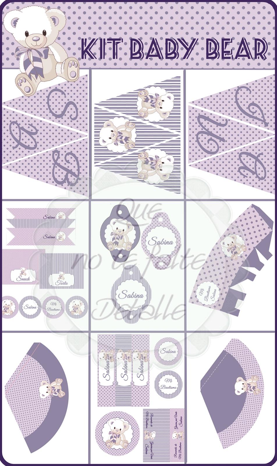 Diseño Kit Imprimible Bautizo Niña