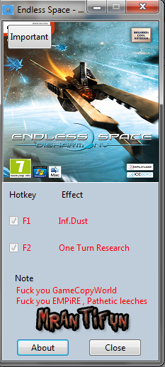Endless Space - Disharmony V4.1.2.1635 Trainer +2  MrAntiFun