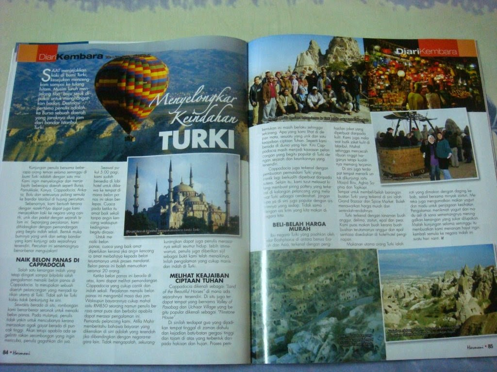 MyTravelog Turkey- Majalah Harmoni (2009)