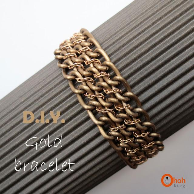 DIY Gold bracelet
