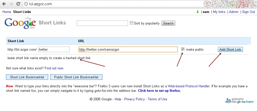 how to create your own url shortener