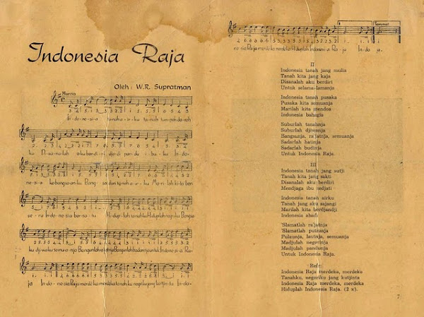 Lirik Asli Lagu Indonesia Raya