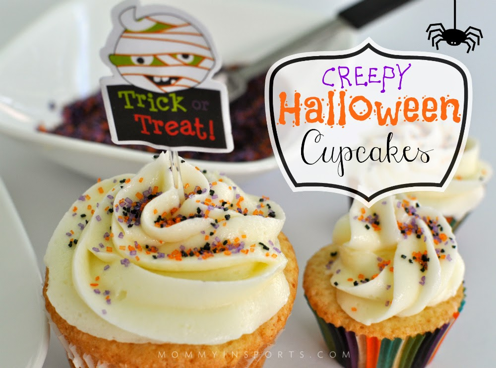 Creepy Halloween Cupcakes by Mommy in Sports