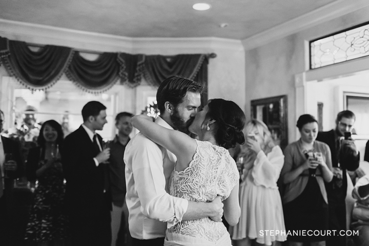 first dance at wedding reception at gatherings