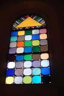 colorful stained glass window
