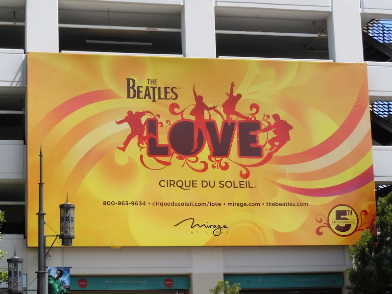 Beatles LOVE billboard