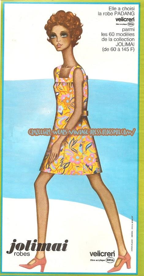 Jolimai dress - 1968 60s 1960