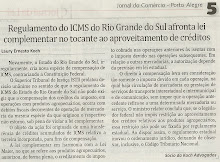 Regulamento do ICMS do RS afronta lei