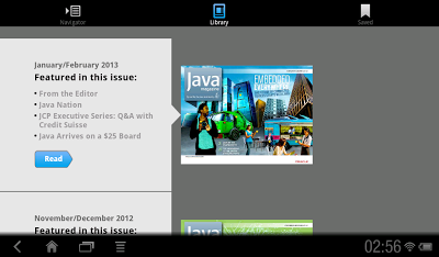 Java Magazine on Android