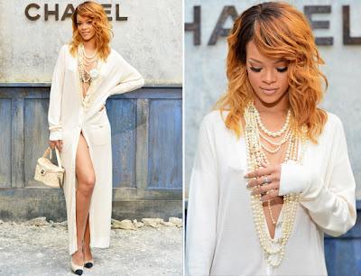 Cantora Rihanna Vestido Chemise Longo