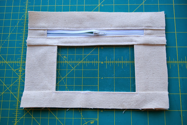 Step two: sewing in the zipper