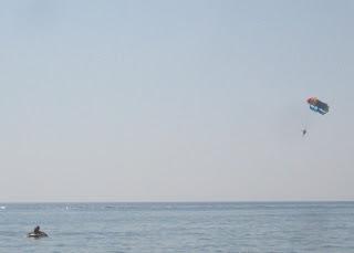 Parasailing at Pelekas, Corfu