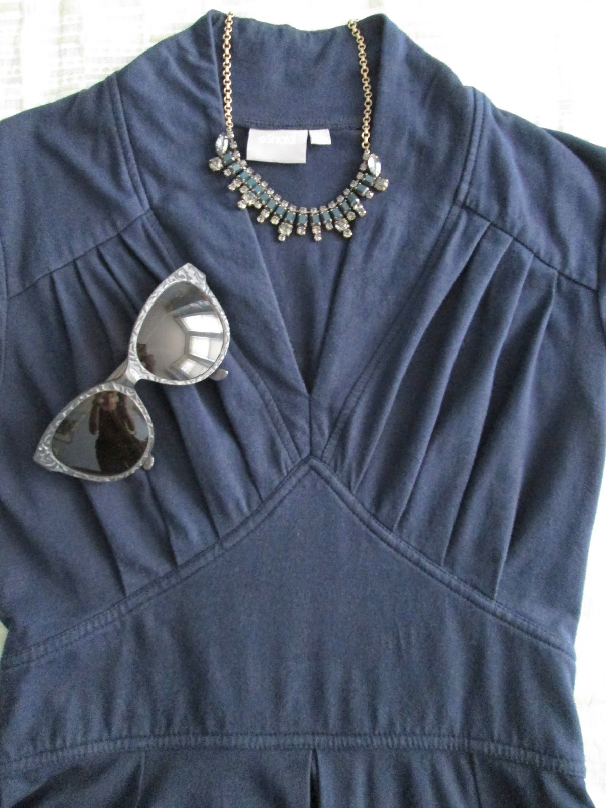 1dbc21002e9 Everything Just So  The eShakti Feminine Pleated Knit Dress