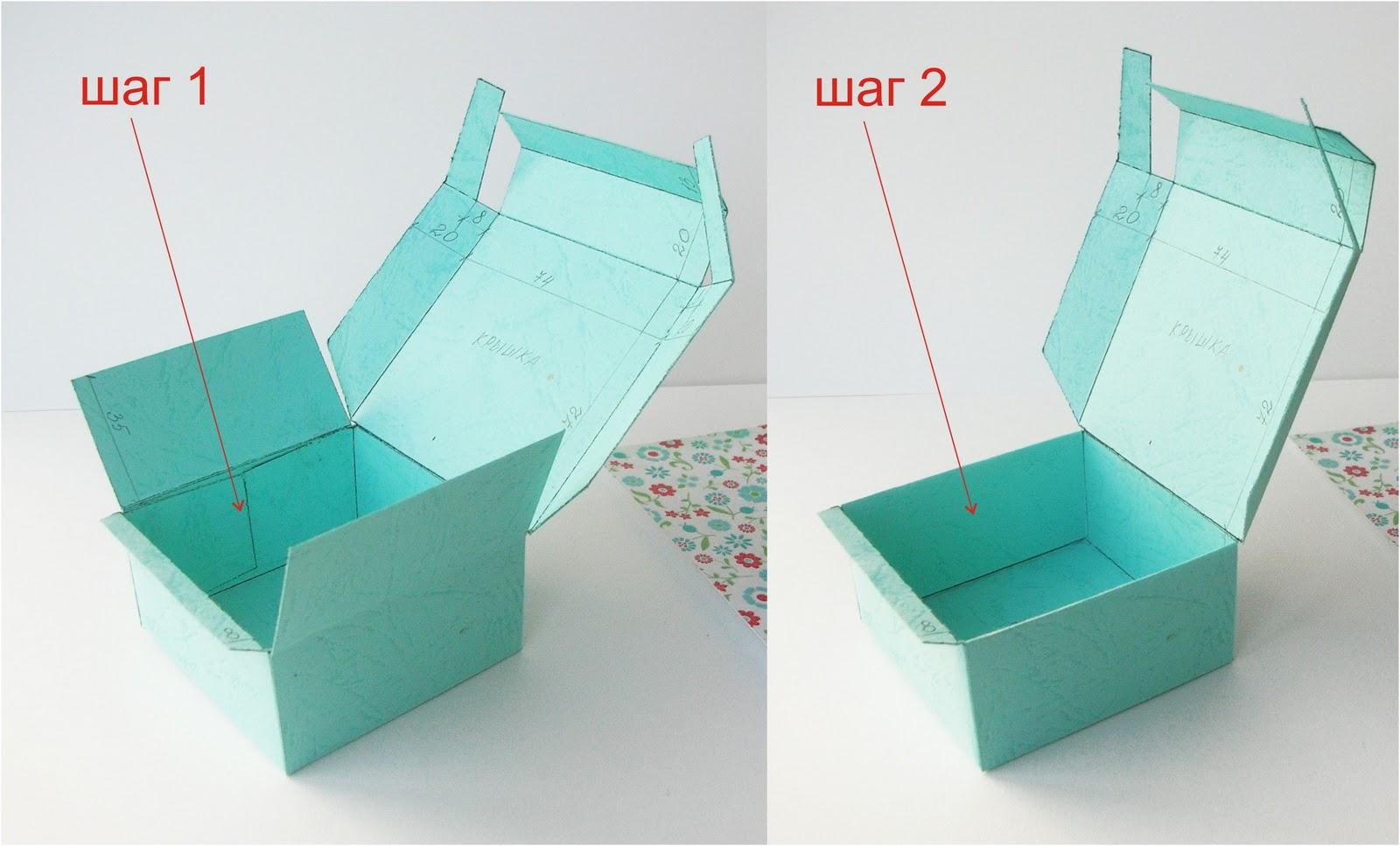 Подарочные коробочки с крышкой своими руками