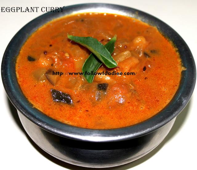 Katharika Puli Kulambu , An Indian  Egg plant curry Recipe