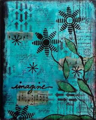 Art Journaling wtih Stencil (Marjie Kemper)