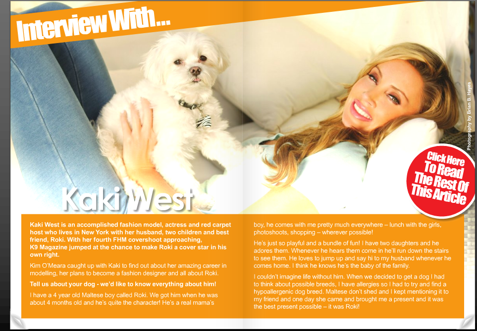 Kaki West & Roki - K9 Magazine Cover Shoot Video