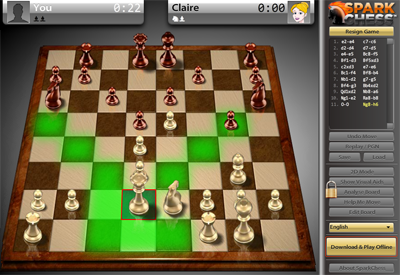 SparkChess from Chrome Web Store