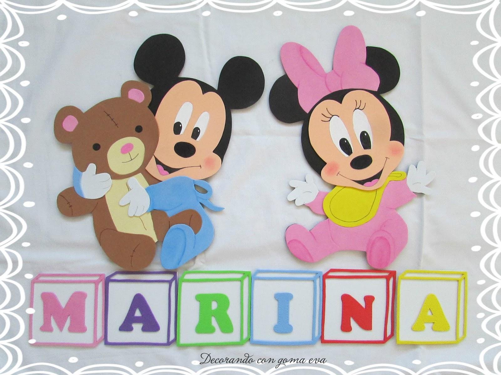 Mickey mouse cartel en goma cartel de cumplea 241 os de - Cosas de goma eva ...