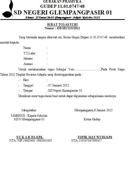 15 Download Surat Mandat Kegiatan Pramuka Pdf Doc 2019
