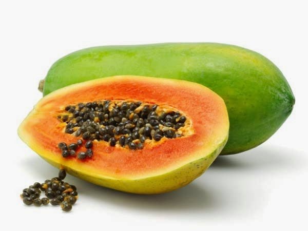 hilangkan jeragat dengan buah betik