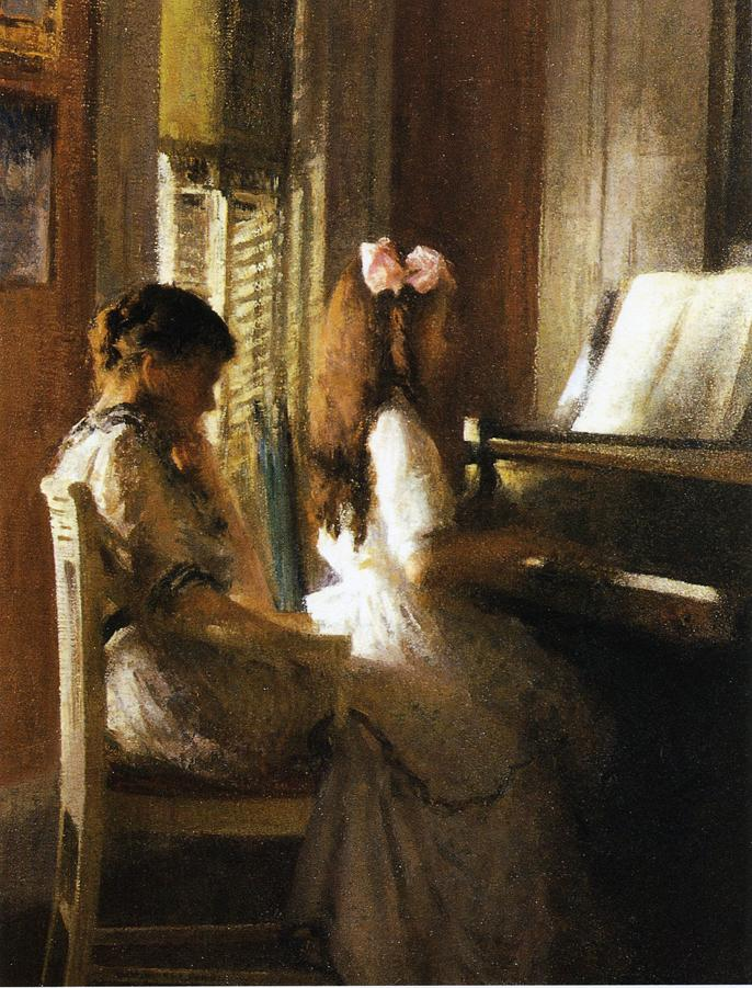 Joseph DeCamp, The Music Lesson (1895)