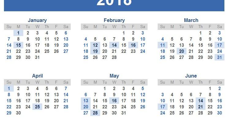 Free Printable Calendar 2018: 2018 calendar sri lanka
