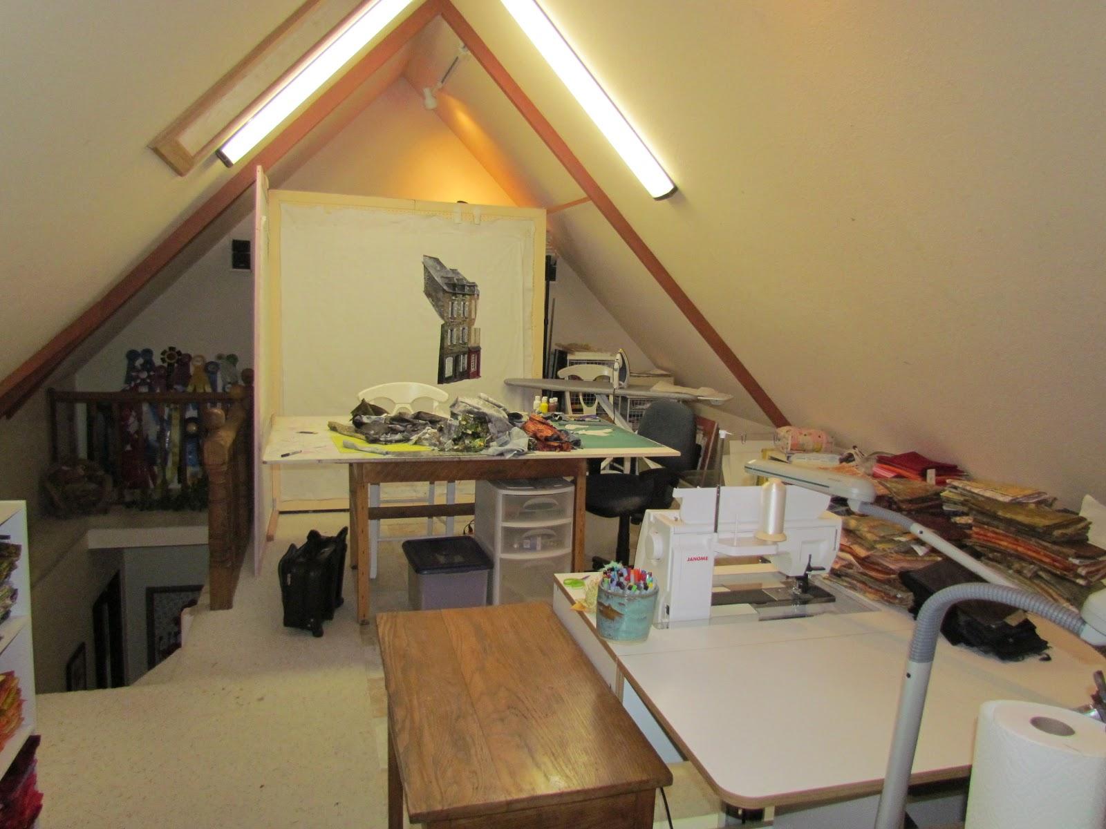 Lenore 39 S Art World My Attic Studio And Design Walls