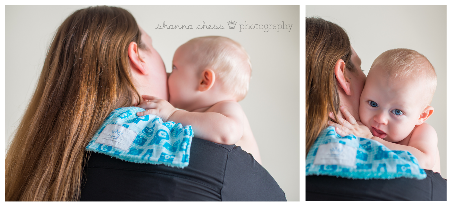 eugene springfield oregon baby photography client gift burp rag