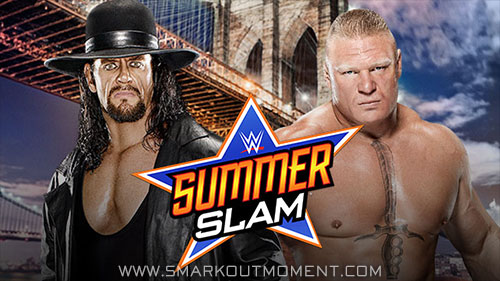 WWE SummerSlam 2015 main event Undertaker vs Brock Lesnar