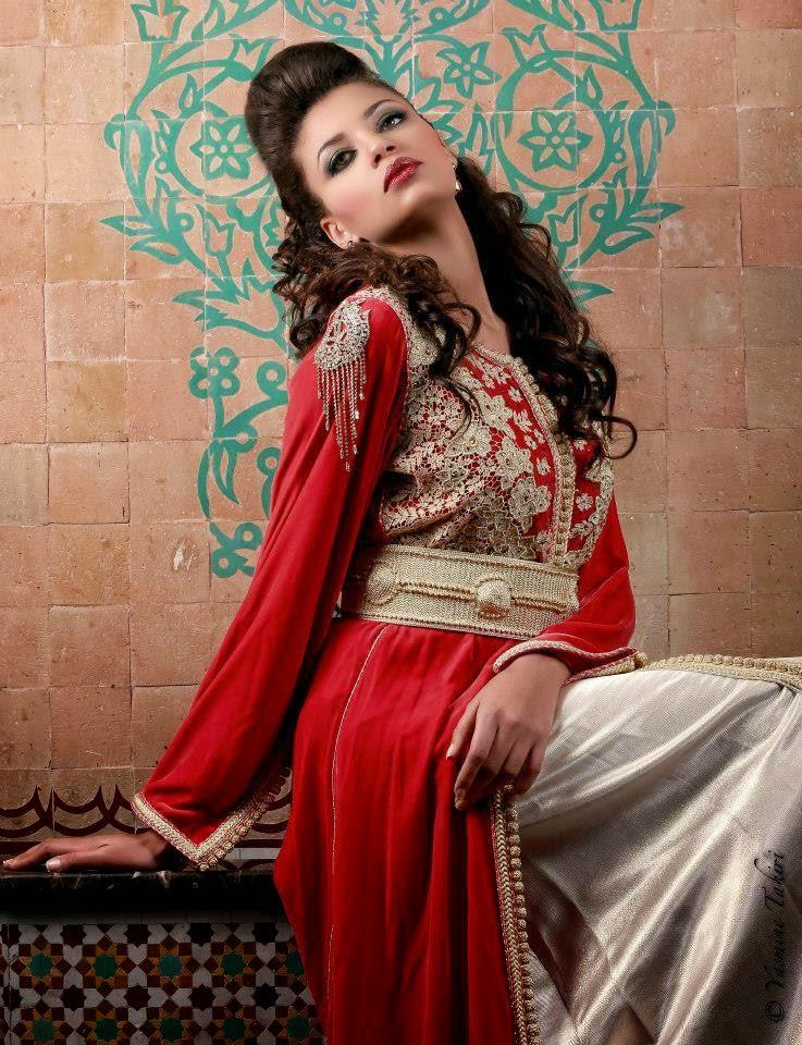 caftan rouge haute couture