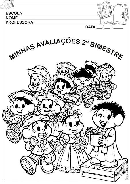 Capa de Atividades 2º Bimestre Festas Juninas