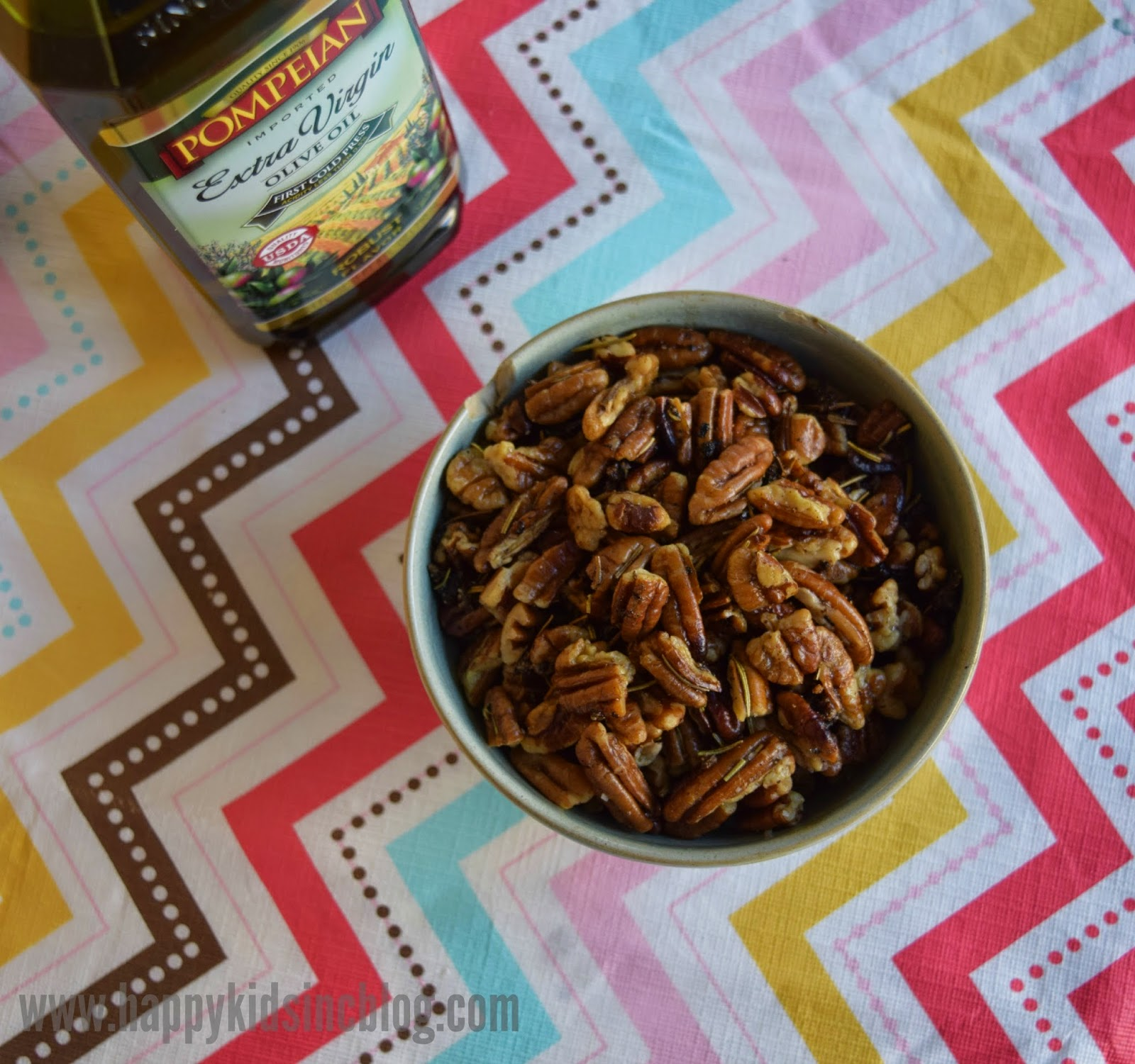 Pompeian Olive Oil Savory Rosemary Pecans