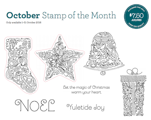 October Stamp Of The Month - Yuletide Joy