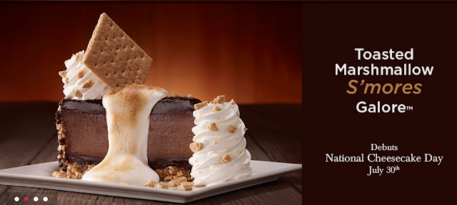 cheesecake factory new flavor toasted marshmallow smores galore