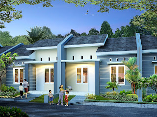 Rendering rumah tinggal type 36