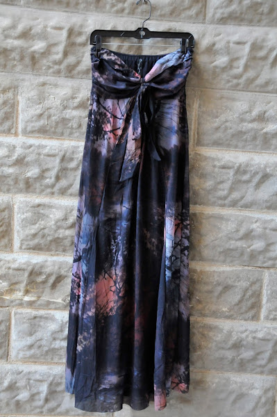 Maxi dress with convertible tie or halter