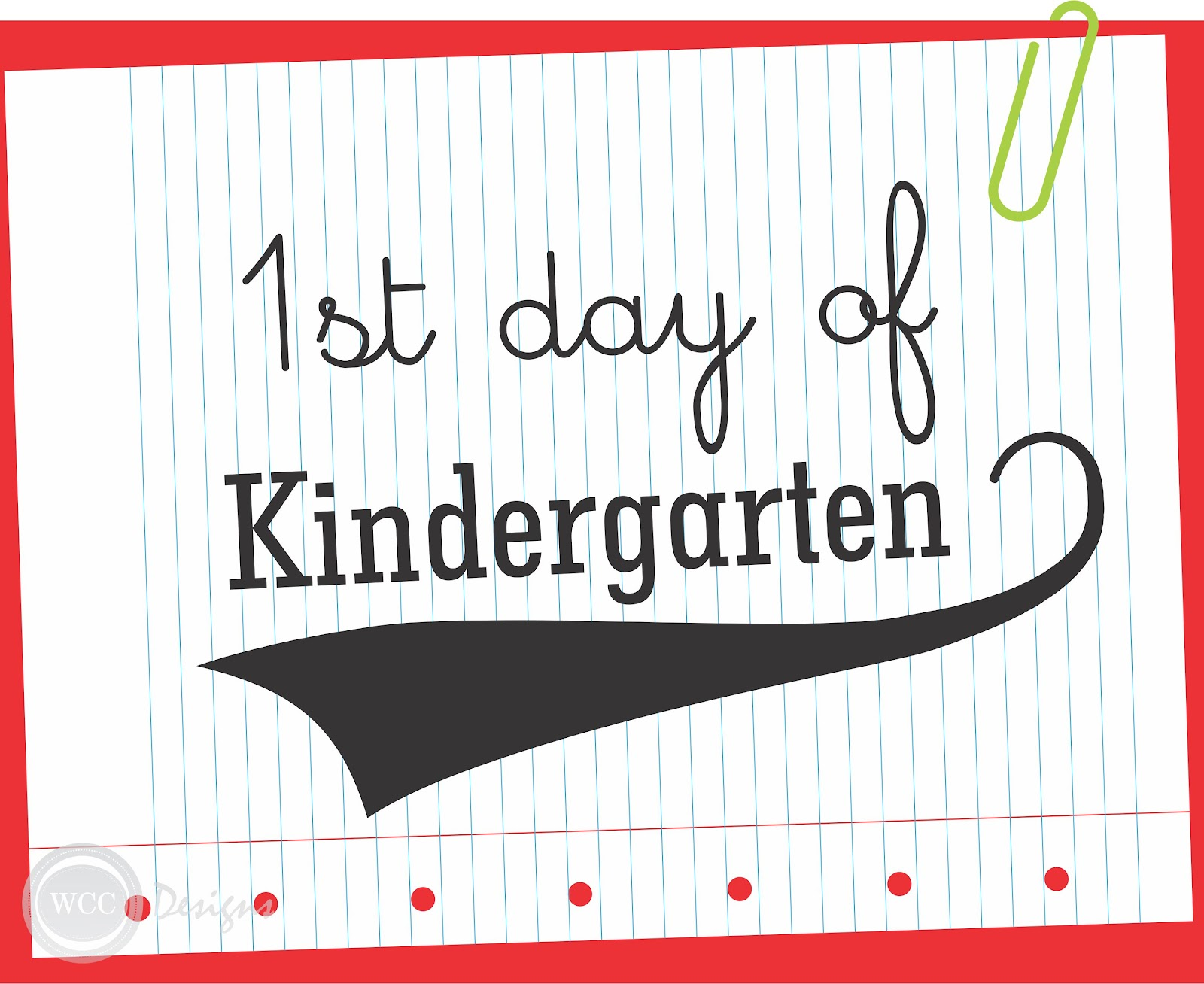 FIRST DAY OF SCHOOL :: FREE PRINTABLES