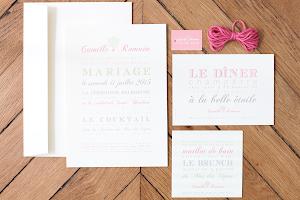 ♥ mariage, modèle letterpress