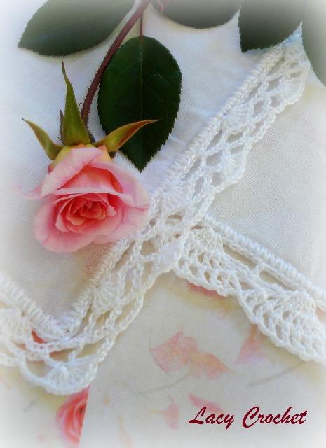 Lacy Crochet: Handkerchiefs with Crochet Lace Trim
