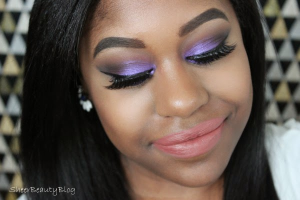 purple eye makeup look with makeup geek eye shadows