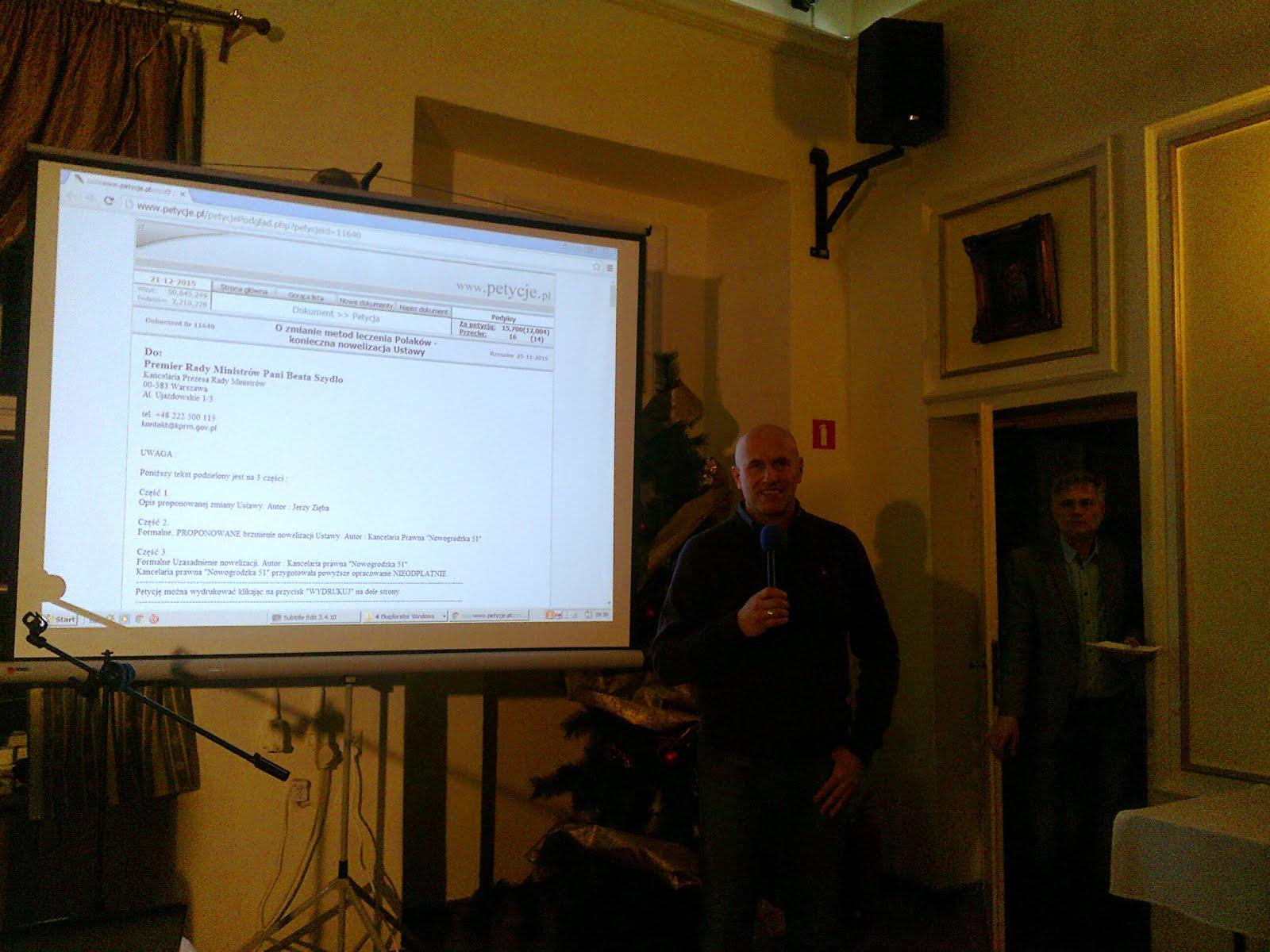 Wystąpienie na spotkaniu NTV we Wrocławiu.