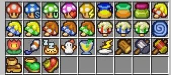 Paper Mario Mod items