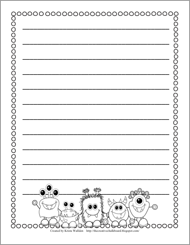 classes credit 1st grade writing paper