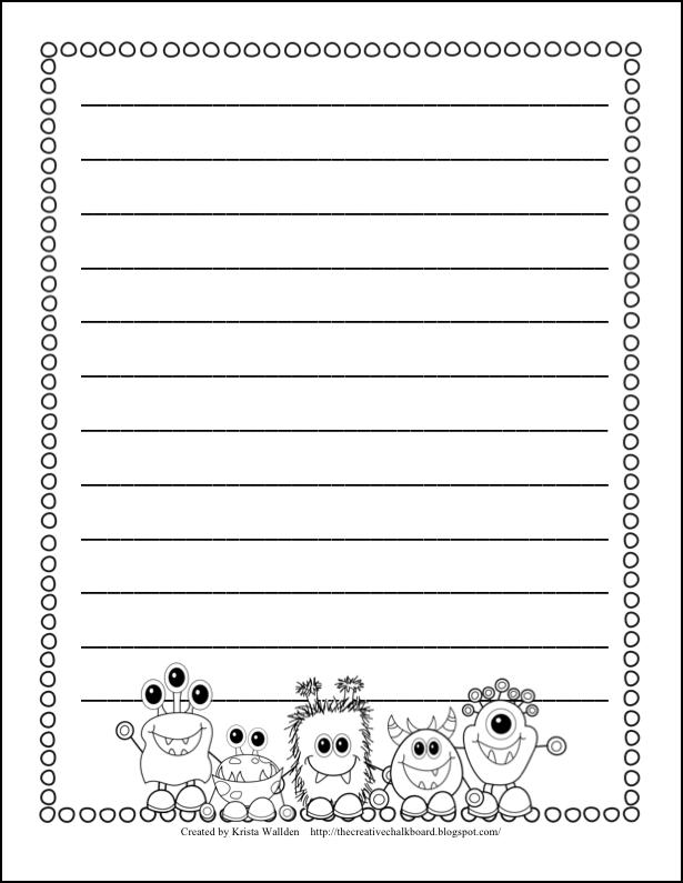 Printable primary school writing paper Best professional resume
