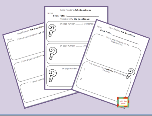 http://www.teacherspayteachers.com/Product/Good-Readers-Ask-Questions-Organizers-to-Help-Kiddos-Think-While-Reading-1195741