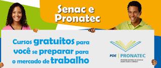 Fazer inscrição Pronatec Senac 2015