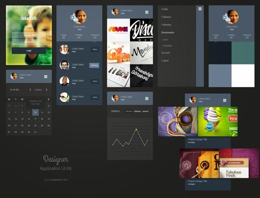 Portfolio App Ui Kit PSD